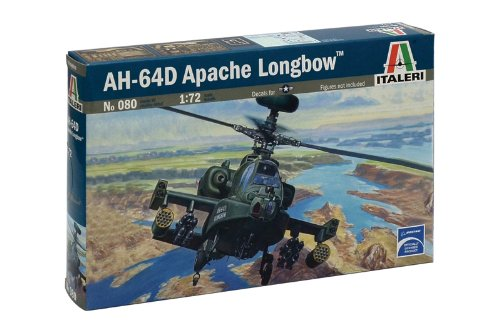 Italeri 1:72 Aircraft No 080 Ah-64 D Apache Longbow Model Kit