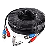 BULWARK 100ft BNC Video Power Cable Security Camera Wire Cord Extension Cable with 2pcs BNC to RCA Connectors for CCTV DVR Surveillance System