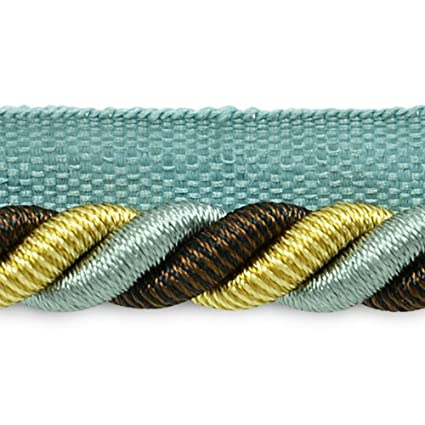 Expo International 20-Yard Leona Twisted Lip Cord Trim Embellishment 3//8-Inch Denim