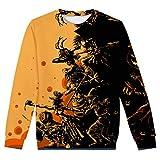 PEIZH Women 3D Halloween Round Neck Blouse Autumn Winter Printing Pullover Long Sleeve Plus Size Sweatshirt Tops