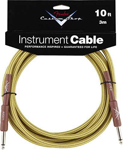 Fender Guitar Cables - Fender Custom Shop Performance Series Cable (Straight-Straight Angle) for electric guitar, bass guitar, electric mandolin, pro audio