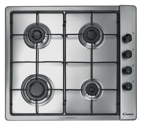 Candy CLG64SPX 60 cm Stainless Steel Gas Hob Hoover Candy Ltd