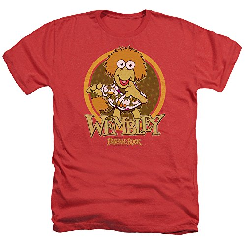 Price comparison product image Fraggle Rock Wembley Circle Mens Heather Shirt Red XL