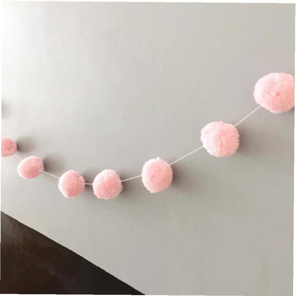 Angoter 5cm Fun Wool Felt Big Balls Handmade Kids 2m Room Wall Decor Hanging Nursery European Garland Best Gifts for Kids Room Ornament