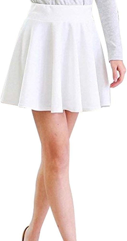 Primavera Verano Blanco Faldas Faldas De Mini Las Señoras Plisadas ...
