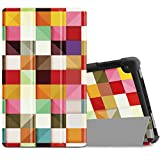 """Infiland All-New Fire HD 8 2017/ Fire HD 8 2016 Case, Slim Lightweight Tri-fold Stand Cover For All-New Fire HD 8 (7th Gen, 2017 Release)/ Fire HD 8 (6th Gen, 2016 release) 8"""" Tablet, Color Diamond"""