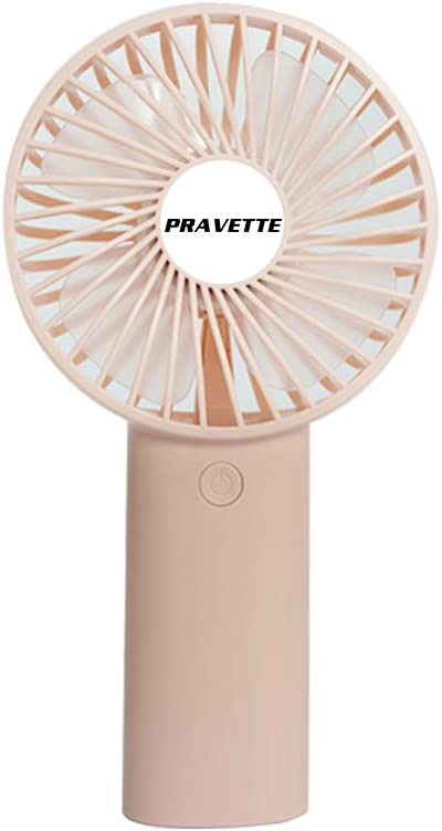 Mini Battery Handheld Fan Portable USB Fan Foldable Design 3 Setting for Travel Home and Office Pink