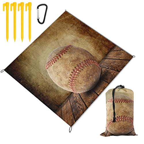 Waterproof Picnic Mat Sports Ball Prints Baseball Traveling Quick Drying Picnic Mats Potable Outdoor Beach Blanket Foldable Picnic Blanket for Camping,Hiking,Festival,Beach,BBQ,Picnic 59 x 57 inch