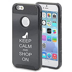 Apple iPhone 5c Shockproof Impact Hard Case Cover Keep Calm and Shop On High Heels (Black)