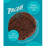 ZHUZH! Gluten-Free Vegan Double Chocolate Cookie (8 Large Cookies) Low Fat, Allergy Friendly, Nutrituous Treat - Great Tasting Superfood with Natural Ingredients - Made with Super Power Flour