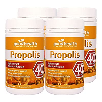 GoodHealth Propolis Flavonoid 40mg 200 Capsules High strength natural protection immune system support Natural antioxidant (Pack of 4)