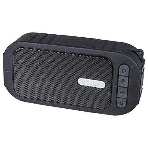 Billboard Water-Resistant Bluetooth Wireless Speaker With Enhanced Bass - Black (Billboard Electronic)