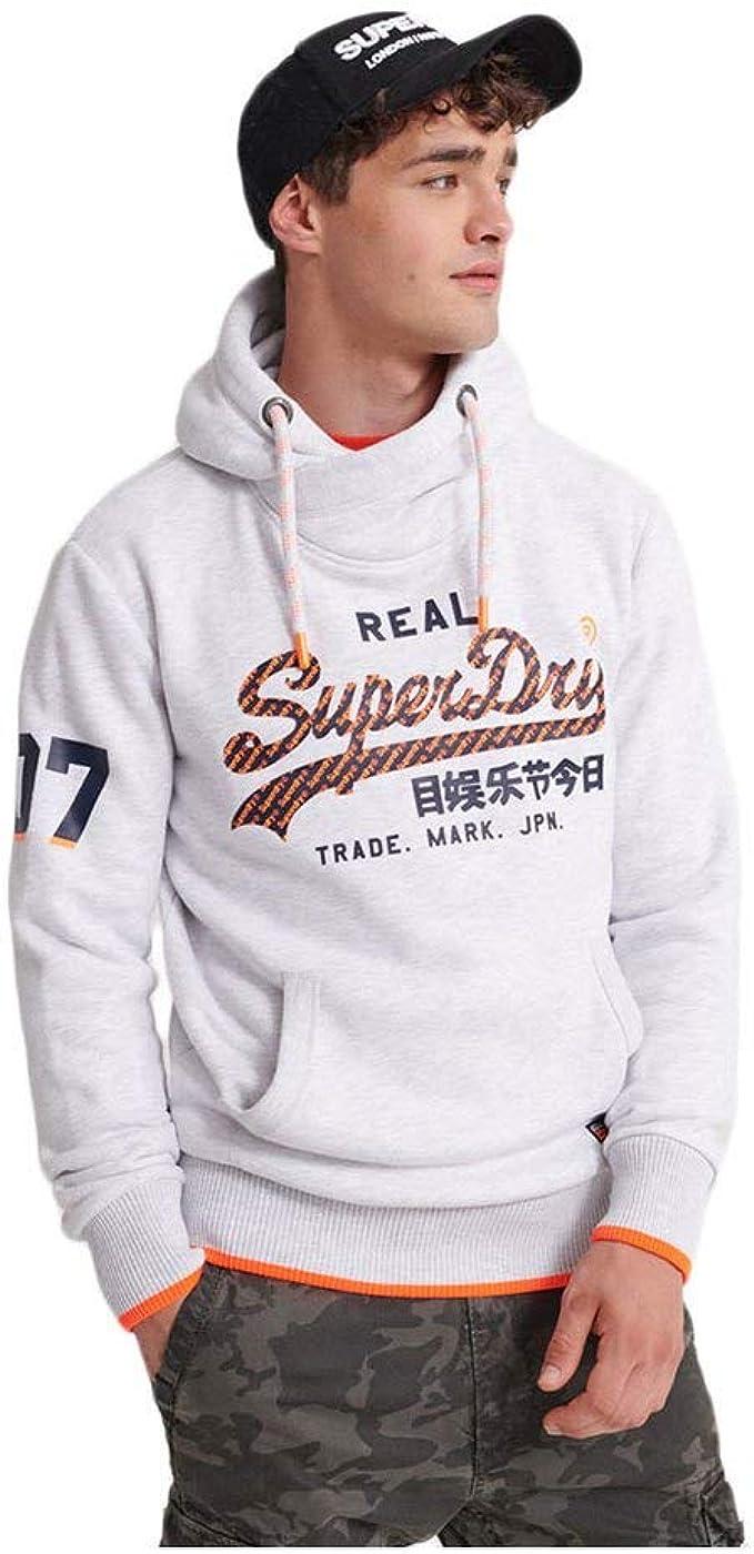 Superdry Herren Sweatshirt Vintage Logo NEON Tip Hood