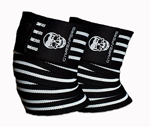 Bodybuilding Knee Wraps - Knee Wraps (Pair) With Straps for Squats, Weightlifting, Powerlifting, Leg Press, and Cross Training - Flexible 72