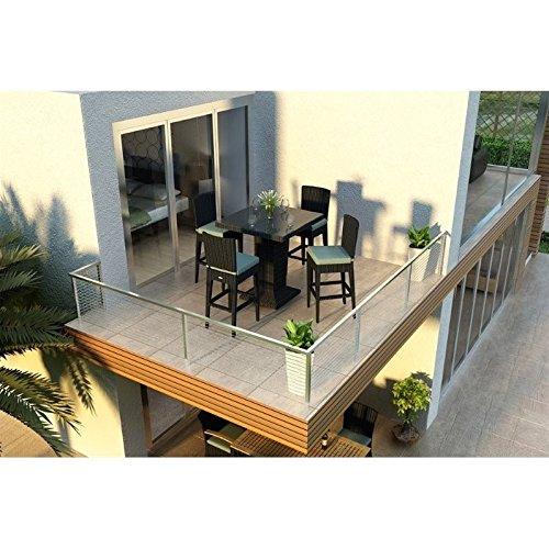 Harmonia Living Urbana 5 Piece Bar Chair Set, Canvas Spa