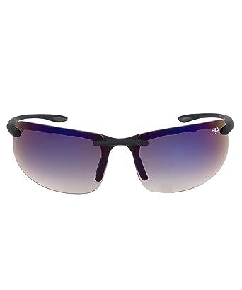 28ea472310b Fila FAC1042 024 Matte Black Rimless Sunglasses with Blue Tinted lenses   Amazon.co.uk  Clothing