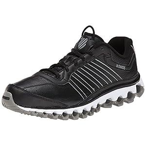 K-Swiss Men's Tubes 151 Leather Performance Training Shoe, Black/Stingray, 8 M US