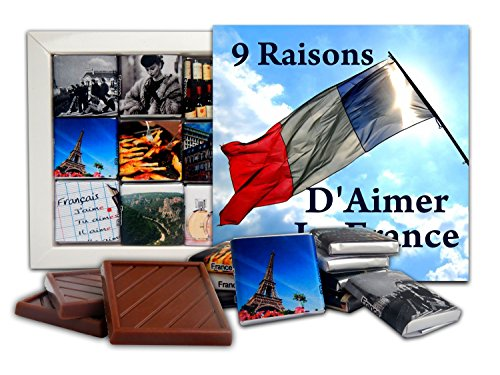 DA CHOCOLATE Cute Candy 9 RAISONS D'AIMER LA FRANCE, used for sale  Delivered anywhere in USA
