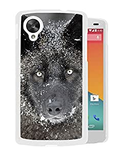 New Beautiful Custom Designed Cover Case For Google Nexus 5 With Wolf (2) Phone Case