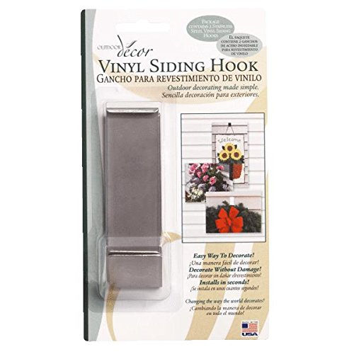 Christmas Mountain VSH05 Vinyl Siding Hook For Outdoor Decorations (Siding Outdoor Decor Vinyl Hook)