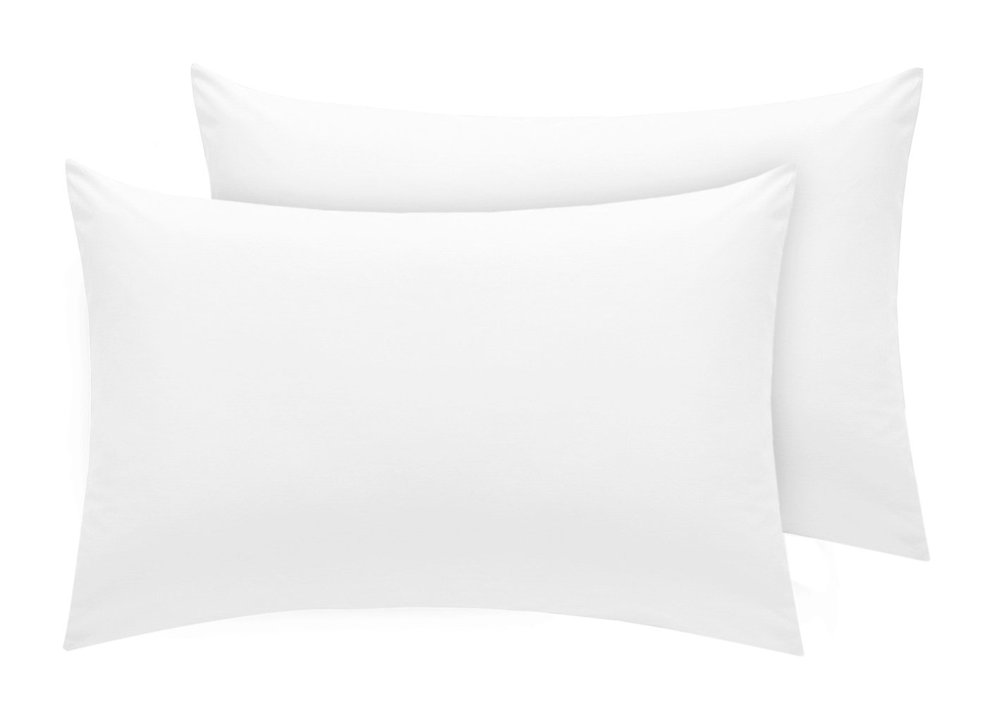 100/% Egyptian Cotton 400 Thread Count House Wife Oxford Pillow Cases Pack Of 2