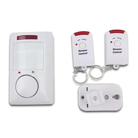 La Haute Home seguridad alarma mando a distancia inalámbrico sensor de movimiento por infrarrojos alarma para