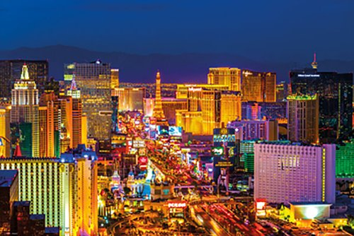 Poster Service Las Vegas Strip Poster, 24-Inch by ()