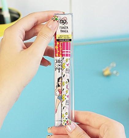 Pedrita Parker 493341 - Pack 2 bolígrafos gel