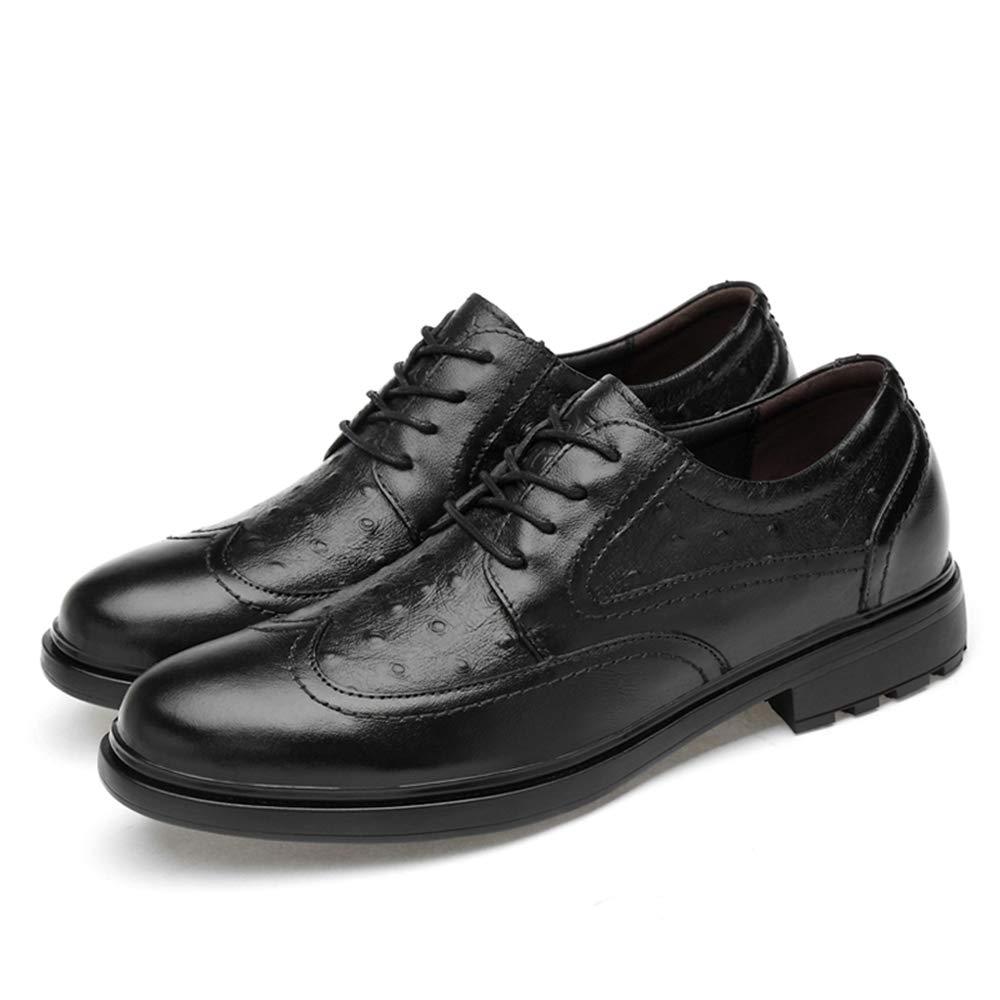 Zapatos de Cuero Cuero Cuero para Hombres Moda Oxford Cómoda Personalidad Textura Low-Top Zapatos Brogue con Cordones Zapatos Oxford de Negocios (Color : Negro, tamaño : 43 EU) 767bec