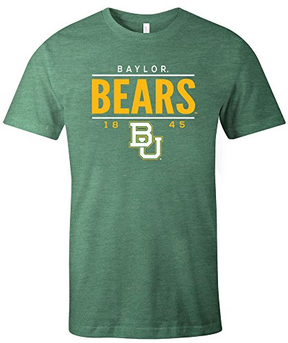 Baylor Ncaa Bears Basketball (NCAA Baylor Bears Tradition Short Sleeve Tri-Blend T-Shirt, Green,XX-Large)