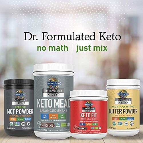 Garden of Life Dr. Formulated Keto Fit Weight Loss Shake - Vanilla Powder, 10 Servings, Truly Grass Fed Butter & Whey Protein, Studied Ingredients & Probiotics, Non-GMO, Gluten Free, Ketogenic, Paleo 12