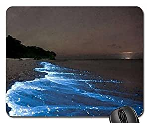 bioluminescent plankton Mouse Pad, Mousepad (Oceans Mouse Pad, Watercolor style)