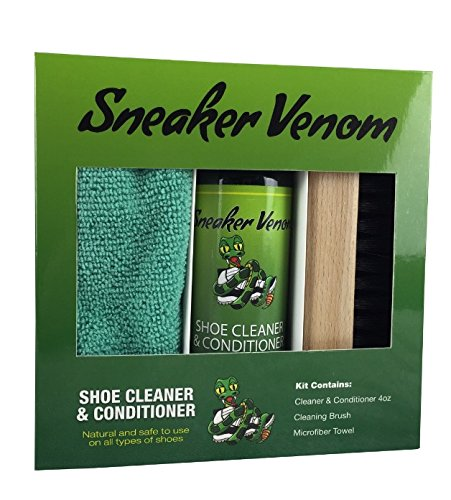 Sneaker Venom Shoe Cleaner & Conditioner 4oz Brush Kit