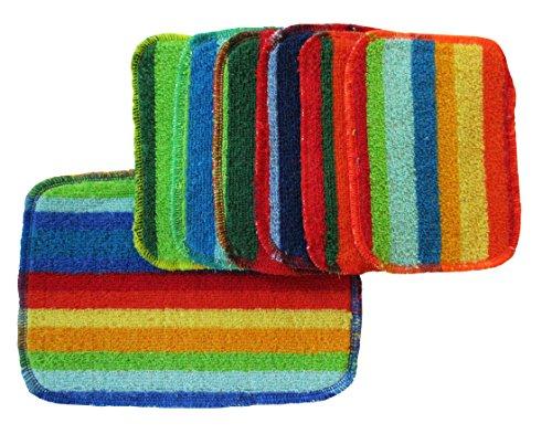 Rainbow Scrubbies 6 Regular & 1 Large
