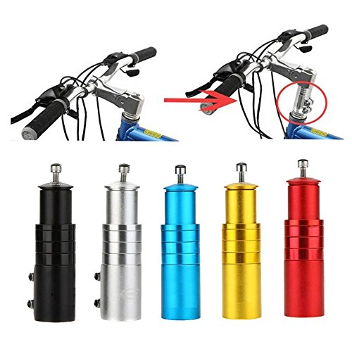 - BlueSunshine Bike Handlebar Riser Bicycle Fork Stem Raiser Extender Head Up Raiser Aluminum Alloy (Black)