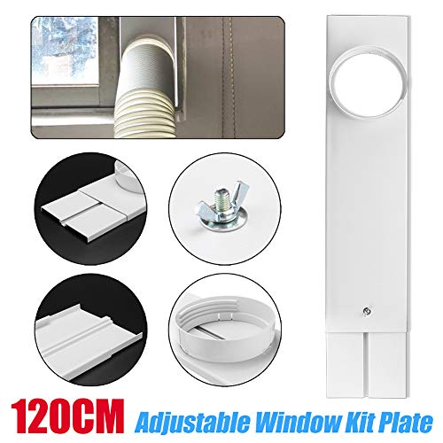 Wulidasheng Portable Air Conditioner Window Kit Plate & Exhaust Hose Connector, Adjustable Window Slide Kit Plate(2Pcs) & 5.9