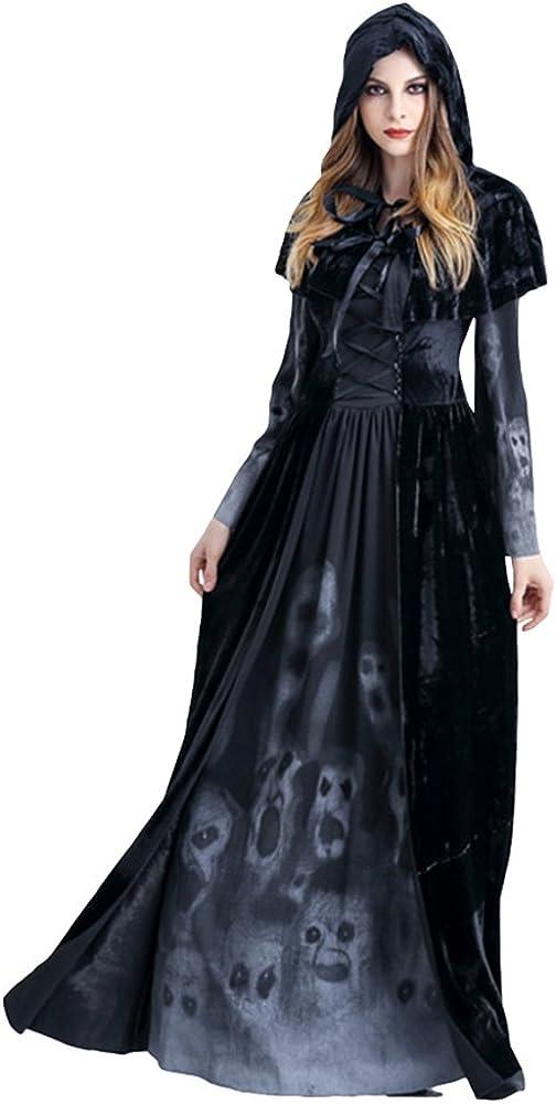 Anguang Disfraz de Bruja Mujer Cosplay Vampiresa Novia Cadaver ...