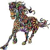 Bobury Abstract Design Flower Running Horse Wall Stickers Home Art Decal Decor