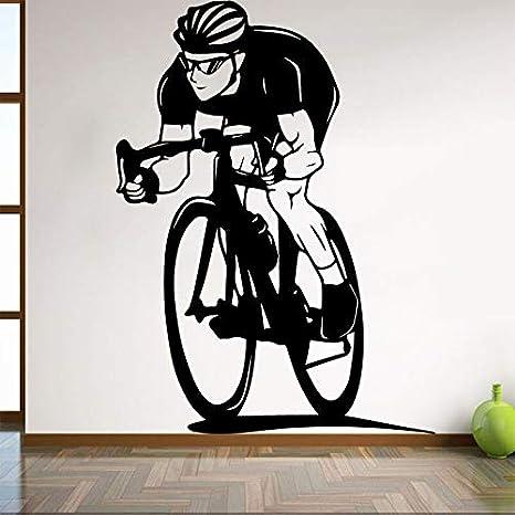Ajcwhml Decoración de Dormitorio de niño con Pegatinas de Pared de Bicicleta Sala de Estar con Bicicleta decoración de Interiores de hogar Dormitorio Estudio Club Club de Arte Mural: Amazon.es: Hogar