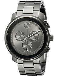Movado Mens 3600277 Analog-Display Swiss Quartz Grey Watch