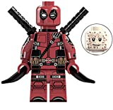Deadpool X-Men Series Marvel Superhero Mini Action Figure Comic Book Character Movie Red & Black -  EX