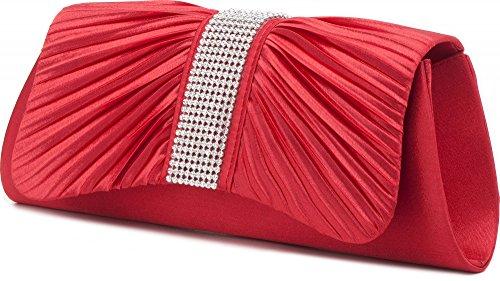 VINCENT PEREZ - Cartera de mano de Satén para mujer Rojo - Rot (Koralle)