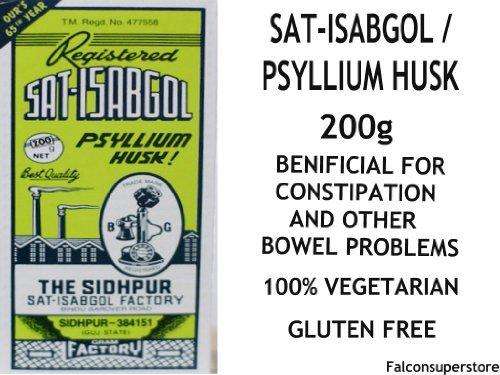 Sat-Isabgol 200G | Sat Isabgol Psyllium Husk *Free Uk Post** Sat Ispaghula Psyllium Seed Plantago Ovata Husk Laxative Constipation Herbal Ayurvedic Health (Best Ayurvedic Medicine For Fistula)