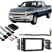 Fits Chevy Silverado Pickup 12-13 w/o OE NAV DDIN Harness Radio Dash Kit