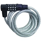 : Master Lock Cable Lock, Set Your Own Combination Bike Lock, 6 ft. Long, 8114D