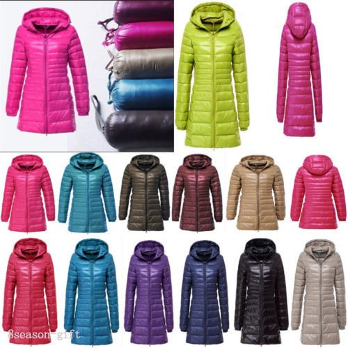 Thin Down Parka 90 Slim Coat Puffer Women's Jacket Plus XL Size Ultralight Dark Navy Hooded 3XL Red wvtRInxY