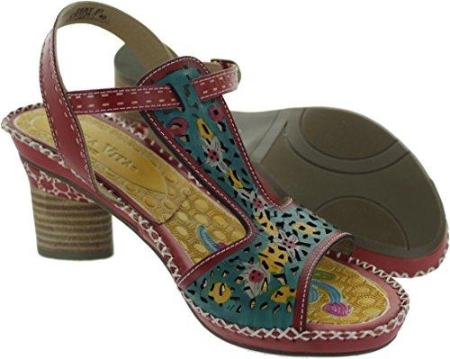 Laura Vita Women's Deby 07 Leather Ankle Strap Sandals 4dFFiHX31a