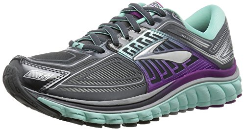 Brooks Womens Glycerin 13 Running Shoe Anthracite/Ice Green/Hollyhock