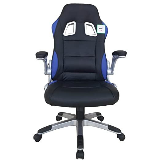 swivel desk chair executive office chair black ergonomic tilt function leather padded computer pc gaming chairs