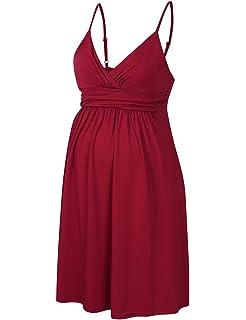 71b5b223487 Coolmee Maternity Dress Women s Sleeveless Knee Length Maternity Dress with Adjustable  Straps
